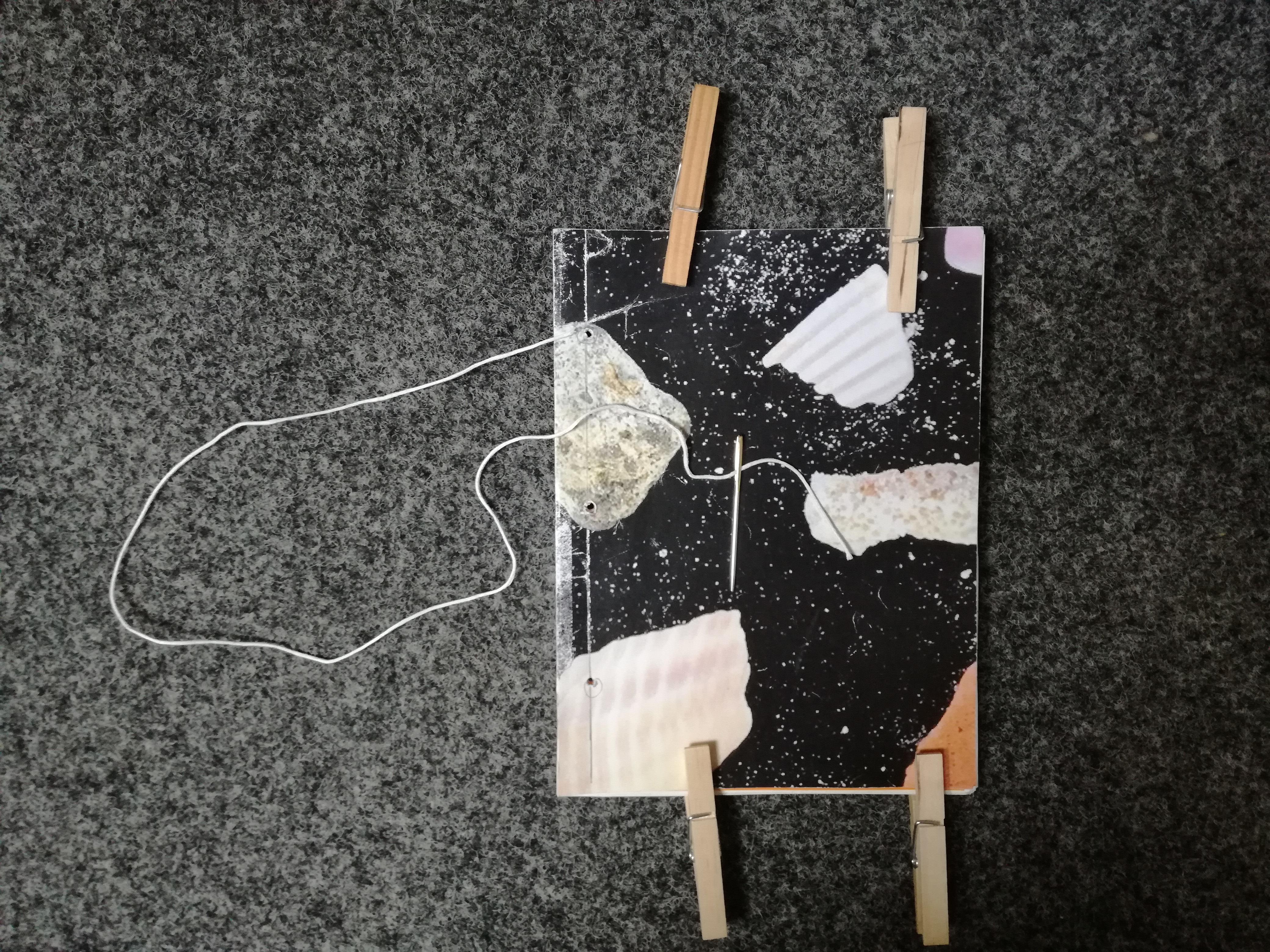 Buchblock DIN A5  zum selber einbinden Kalender